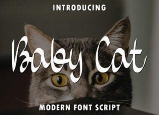 Baby Cat Font