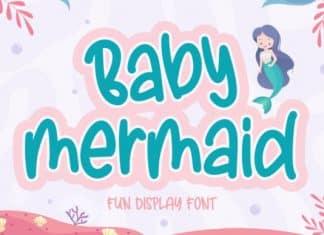 Baby Mermaid Display Font