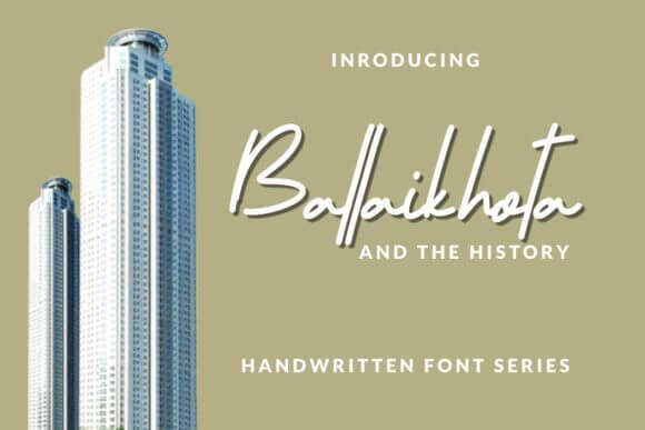 Ballaikhota Font