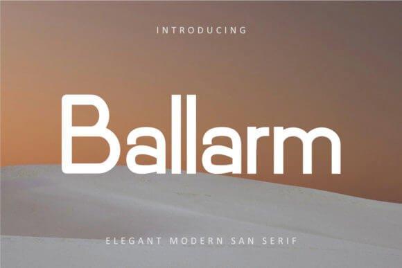 Ballarm Font
