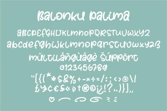 Balonku Dalima Font
