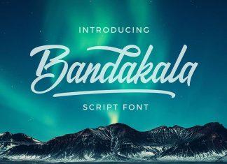 Bandakala Casual Script Font