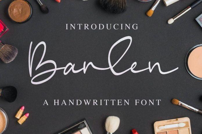 Barlen - a Handwritten Font