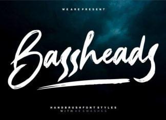 Bassheads – Handbrush Font
