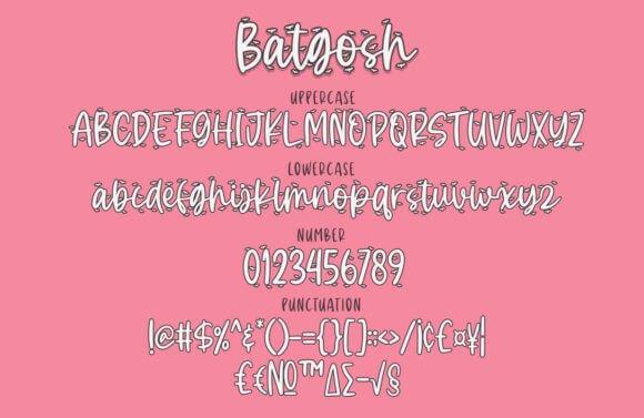 Batgosh Font