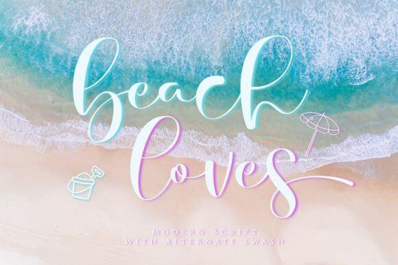 Beach Loves Font