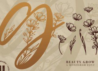 Beauty Grow Monogram Font