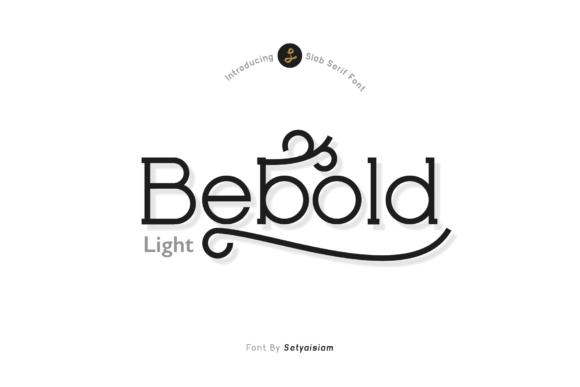 Bebold Light Font