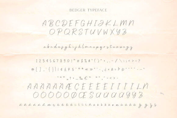 Bedger Font