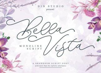 Bella Vista - Monoline Script