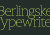 Berlingske Typewriter Font