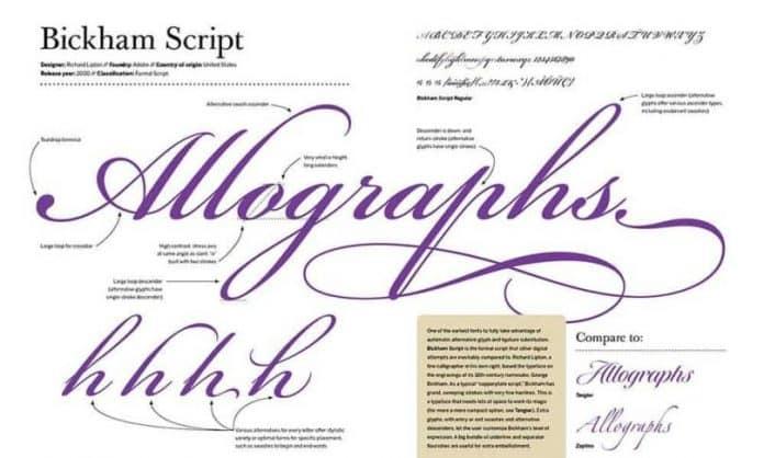 Bickham Script Font