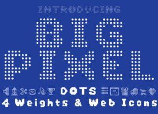 Big Pixel Dots Font
