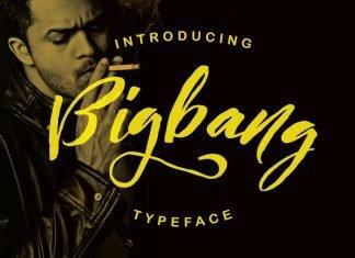 Bigbang Typeface Font