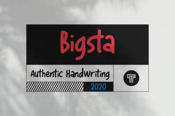 Bigsta Font