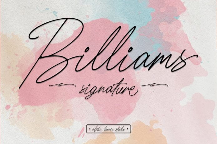 Billiams Signature - Modern Script