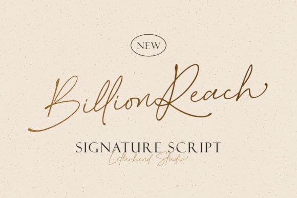 Billion Reach Font