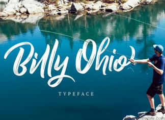 Billy Ohio Brush Font