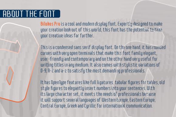 Bilokos Pro Font