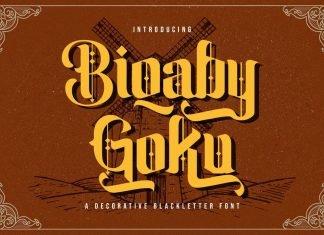 Biqaby Goku - Blackletter Font