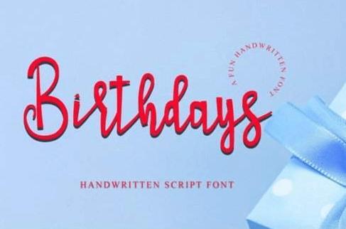 Birthdays Font