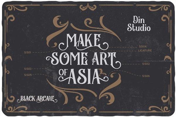 Black Arcade - Font Pack