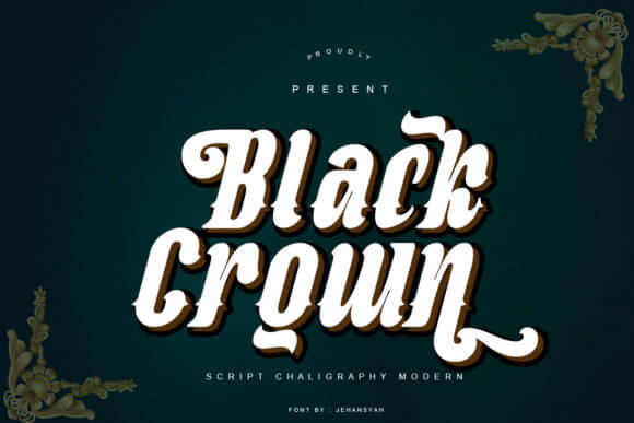 Black Crown Font