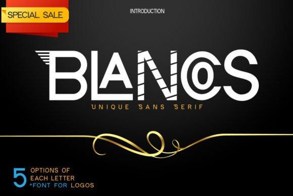 Blancos Font