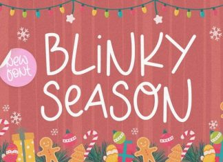 Blinky Season Handwriting Font