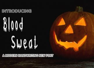 Blood Sweat Font