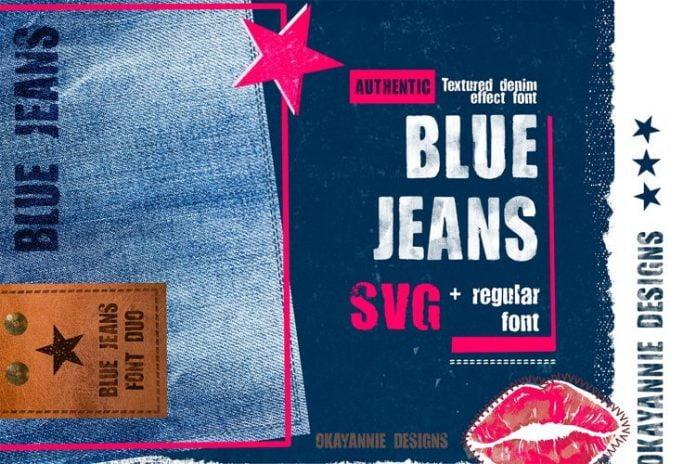 Blue Jeans SVG Font
