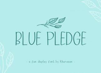 Blue Pledge Font