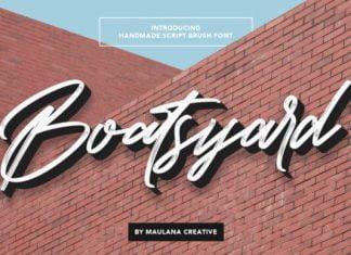 Boatsyard - Lovely Brushed Handwritten Font