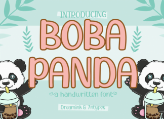 Boba Panda Font