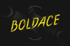 Boldace - Strong Brush Font