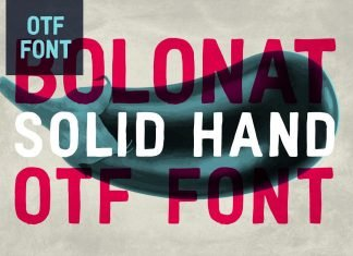 Bolonat Hand Font