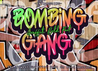 Bombing Gang - Graffiti Bold Font