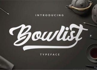Bowlist Logo Type Font