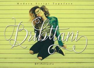 Bribttani Script Font