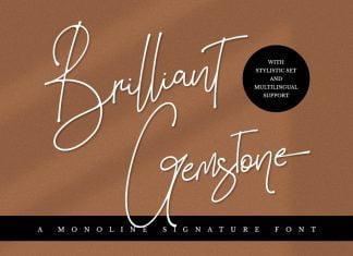 Brilliant Gemstone - Signature Font