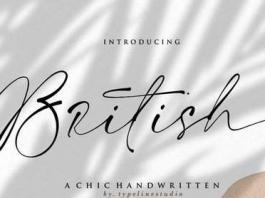British handwritten Signature