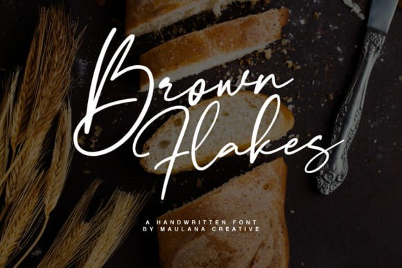 Brown Flakes Font