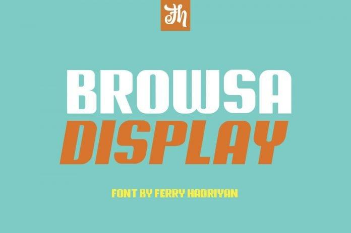 Browsa - Display Font