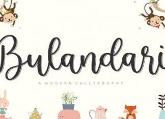 Bulandari YH - Modern Calligraphy Font