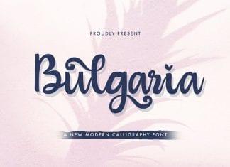 Bulgaria - Modern Calligraphy Font