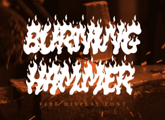Burning Hammer Font