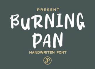 Burning Pan Font