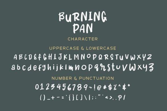 Burning Pan Font