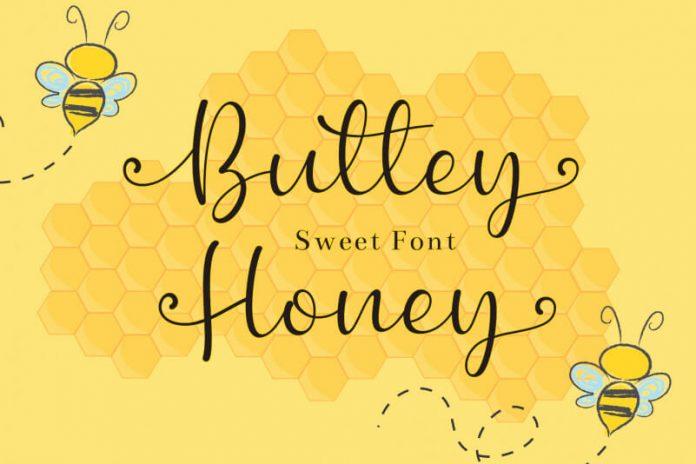 Buttey Honey Script Font