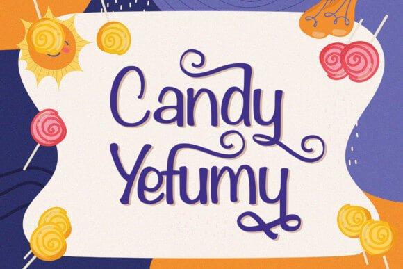 Candy Yefumy Font